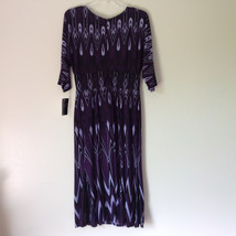 Size 8 NEW with Tag Purple Light Purple and Black Design Dress Zipper image 7