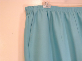 Size 20W Stretchy Waist Alfred Dunner Blue Pants Side Pockets Made in USA image 4