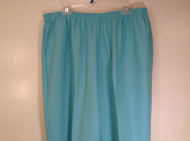 Size 20W Stretchy Waist Alfred Dunner Blue Pants Side Pockets Made in USA image 3