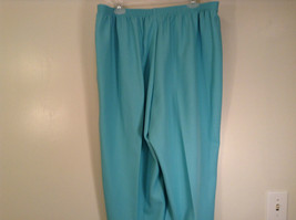 Size 20W Stretchy Waist Alfred Dunner Blue Pants Side Pockets Made in USA image 5