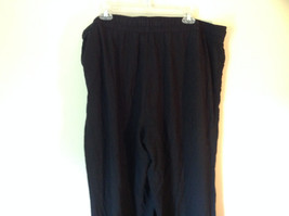 Size 18W Daisy Fuentes Black Pants Tied Waist Light Material 100 Percent Rayon image 4