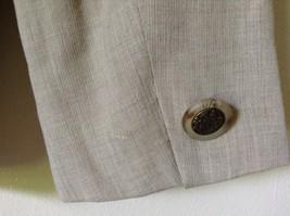 Size 4 Suit Jacket Blazer Jones New York Fancy Buttons Shoulder Pads Long Sleeve image 6