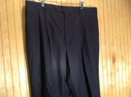 Size 40 Black Pleated Dress Pants Tags Removed Measurements Below image 2