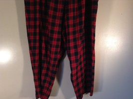 Size 22W Red Blue Plaid Alfred Dunner Stretchy Waist Lounge Pants Pajama Bottom image 2