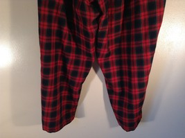 Size 22W Red Blue Plaid Alfred Dunner Stretchy Waist Lounge Pants Pajama Bottom image 5