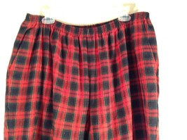 Size 22W Red Blue Plaid Alfred Dunner Stretchy Waist Lounge Pants Pajama Bottom image 3
