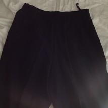 Size 6 DKNY Black Dress Pants 100 Percent Wool Cuffed Bottom image 5