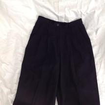 Size 6 DKNY Black Dress Pants 100 Percent Wool Cuffed Bottom image 2