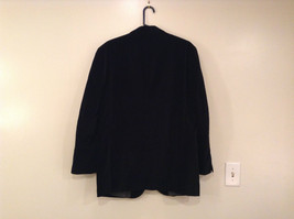 Size 42R 100 Percent Cotton Apt 9 Fully Lined Black Suit Jacket Velvet Fabric image 2