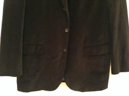 Size 42R 100 Percent Cotton Apt 9 Fully Lined Black Suit Jacket Velvet Fabric image 4