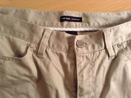 Size 8 Tall New York and Company Khaki Capri Pants Button Zipper Closure Pockets image 5
