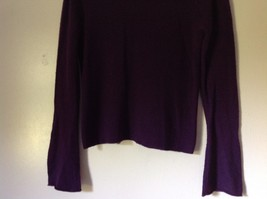 Size Small Valerie Stevens 100 Percent Extra Fine Merino Wool Purple Sweater image 3