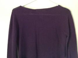 Size Small Valerie Stevens 100 Percent Extra Fine Merino Wool Purple Sweater image 2