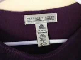 Size Small Valerie Stevens 100 Percent Extra Fine Merino Wool Purple Sweater image 4