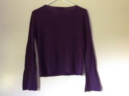 Size Small Valerie Stevens 100 Percent Extra Fine Merino Wool Purple Sweater image 5