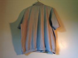 Size XX Light Gray Short Sleeve Shirt Full Front Zipper Closure Lions Den image 4