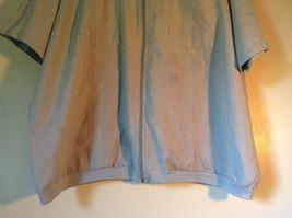 Size XX Light Gray Short Sleeve Shirt Full Front Zipper Closure Lions Den image 3