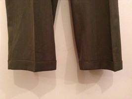Slates Basic Brown Gray Pleated Front Polyester Dress Pants Size 42W 32 L image 6