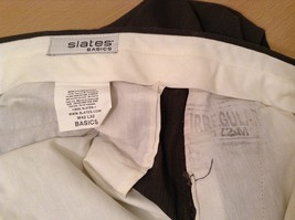 Slates Basic Brown Gray Pleated Front Polyester Dress Pants Size 42W 32 L image 11