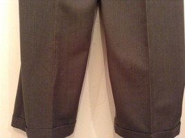Slates Basic Brown Gray Pleated Front Polyester Dress Pants Size 42W 32 L image 8