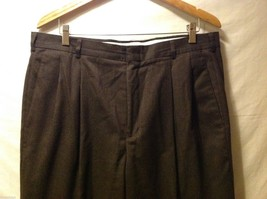 Slates Mens Dark Brown Dress Pants, Size W35 L30 image 3