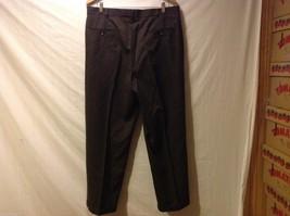 Slates Mens Dark Brown Dress Pants, Size W35 L30 image 2