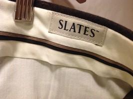Slates Mens Dark Brown Dress Pants, Size W35 L30 image 6