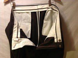 Slates Mens Dark Brown Dress Pants, Size W35 L30 image 8