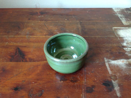 Small Ceramic Hand Crafted Artisan Bowl Green Glazed image 2