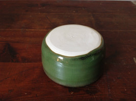 Small Ceramic Hand Crafted Artisan Bowl Green Glazed image 6