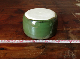 Small Ceramic Hand Crafted Artisan Bowl Green Glazed image 7