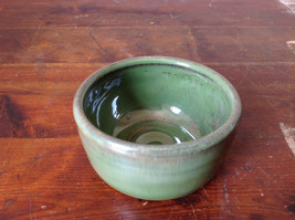 Small Ceramic Hand Crafted Artisan Bowl Green Glazed image 4
