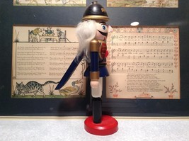 Small Soldier Nutcracker with Movable Arms Eight and a Half Inches Tall image 4