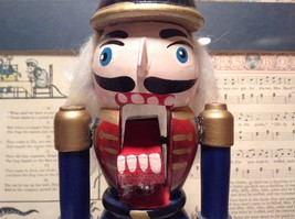 Small Soldier Nutcracker with Movable Arms Eight and a Half Inches Tall image 7