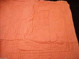 Small crib quilt with girls in each frame image 2