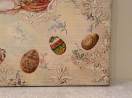 Spring Easter Bunnies Flowers Vintage Russian Artist Handmade Canvas L Mironova image 6