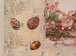 Spring Easter Bunnies Flowers Vintage Russian Artist Handmade Canvas L Mironova image 8
