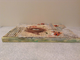 Spring Canvas Russian Handmade Nest with 3 Robin Eggs Artist L Mironova Vintage image 10