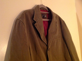 St. Johns Bay Olive Green Button Up Thigh Length Blazer  3 Front Pockets  Size L image 2