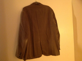 St. Johns Bay Olive Green Button Up Thigh Length Blazer  3 Front Pockets  Size L image 6