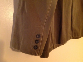 St. Johns Bay Olive Green Button Up Thigh Length Blazer  3 Front Pockets  Size L image 5