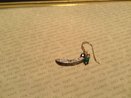 Sterling Silver Intricate Feather Earring with Semi Precious Stones image 5