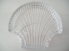 Stunning large lead crystal sea shell shaped candy dish image 6