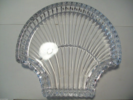 Stunning large lead crystal sea shell shaped candy dish image 3