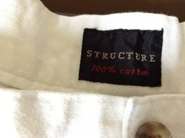 Structure White Shorts 100 Percent Cotton Size 36 Zipper and Button Closure image 4