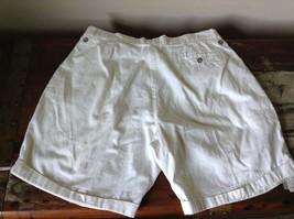 Structure White Shorts 100 Percent Cotton Size 36 Zipper and Button Closure image 6