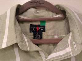 Striped Green Long Sleeve Button Up J Crew Shirt Excellent Condition Size Large image 4