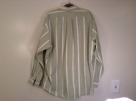 Striped Green Long Sleeve Button Up J Crew Shirt Excellent Condition Size Large image 7