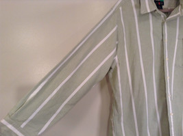 Striped Green Long Sleeve Button Up J Crew Shirt Excellent Condition Size Large image 5