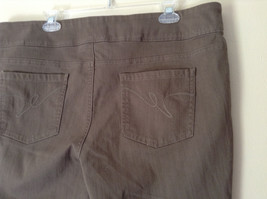 Style and Company Brown Casual Pants Stretchy Waist Back Pockets Size XL image 7